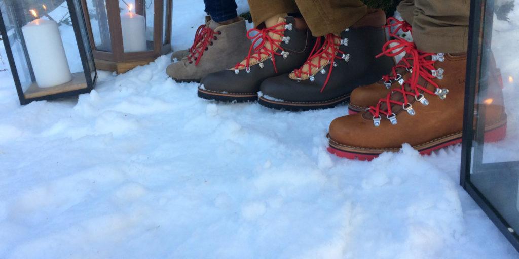 Chaussures le Soulor dans la neige