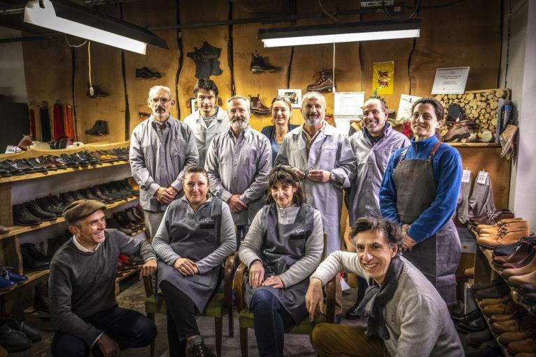 Photo de l'équipe d'artisans de l'Atelier Le Soulor